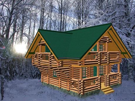 Деревянного дома площадью 100 м 2