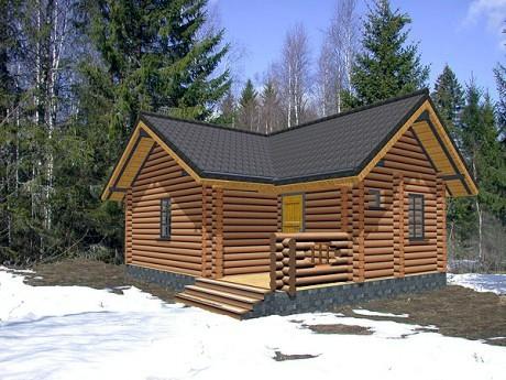 деревянный дом проект бани